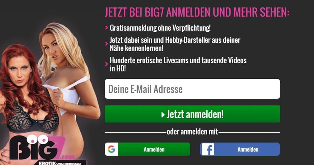 Big7 Anmelden & Gutschein einlösen